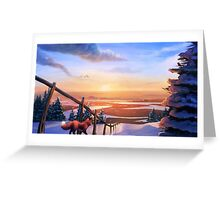 Red Fox's Wintry Sunrise Greeting Card