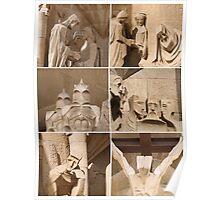 Barcelona - Sagrada Familia Sculptures Poster