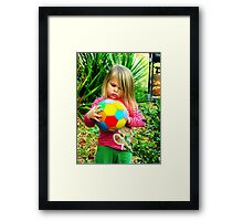 little cutiepie! Framed Print