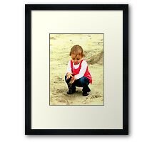 playing in the dirt Framed Print