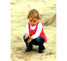 playing in the dirt Photographic Print