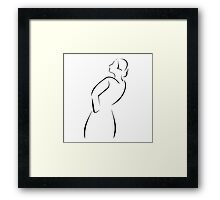Girl posing in fashionable outfit  Framed Print