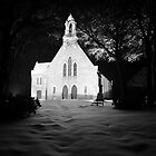Snowy Church by Jordan Moffat
