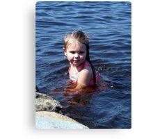 kynlie at the lake Canvas Print