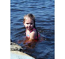 kynlie at the lake Photographic Print