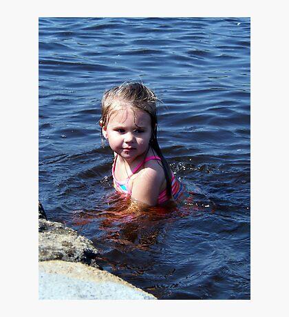 kynlie at the lake Photographic Print