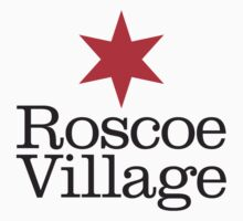 Roscoe Village Neighborhood Tee by Chicago Tee