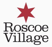 Roscoe Village Neighborhood Tee by Chicago Tee