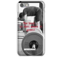 The hard...is what makes it great! iPhone Case/Skin