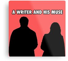 A writer and his muse Metal Print