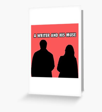 A writer and his muse Greeting Card