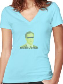 Mitt Romney big brother 2012 vintage Women's Fitted V-Neck T-Shirt