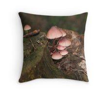 Petite Mushrooms Throw Pillow