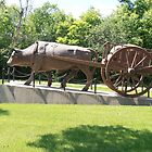 Oxen and Redriver Cart by winnipegmike