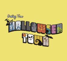 Halloween Town Postcard Kids Tee