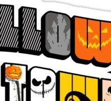 Halloween Town Postcard Sticker