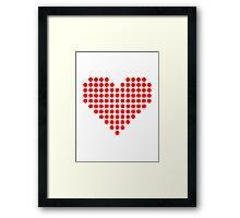 Red pixel heart Framed Print