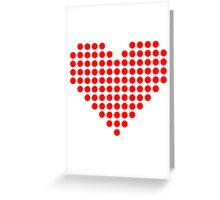 Red pixel heart Greeting Card