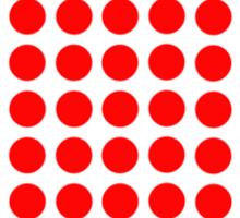 Red pixel heart Sticker