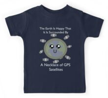 Necklace of GPS Satellites!  Kids Tee