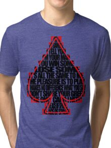 Ace Of Spades - Black and Red Tri-blend T-Shirt
