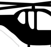 Helicopter pilot aviation Sticker