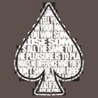 Ace Of Spades - White and Black by georgestow