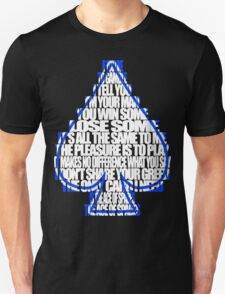 Ace Of Spades - White and Blue T-Shirt