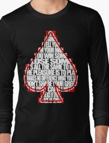 Ace Of Spades - White and Red Long Sleeve T-Shirt