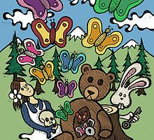 Teddy Bear And Bunny - Nervous by Brett Gilbert