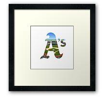 Oakland Athletics Stadium Logo Framed Print