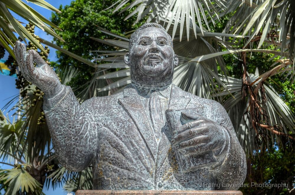 His Excellency Sir Milo Boughton Butler Statue in Nassau, The Bahamas by Jeremy Lavender Photography