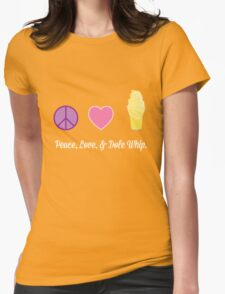 Peace, Love, and Dole Whip Womens Fitted T-Shirt