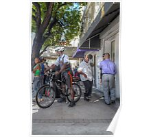 Daily Life on Bay Street in Downtown Nassau, The Bahamas Poster