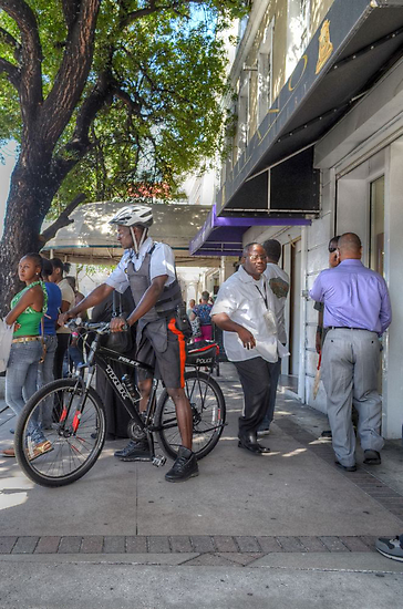 Daily Life on Bay Street in Downtown Nassau, The Bahamas by 242Digital