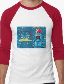 DEVO Bots 008 Men's Baseball ¾ T-Shirt