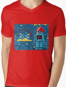 DEVO Bots 008 Mens V-Neck T-Shirt