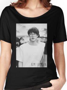 BTS/Bangtan Sonyeondan - Black & White Jin Women's Relaxed Fit T-Shirt