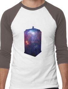 Police Box Space Men's Baseball ¾ T-Shirt