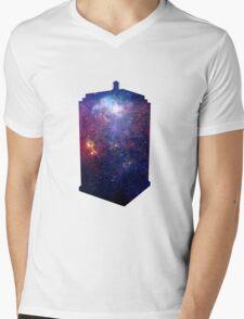 Police Box Space Mens V-Neck T-Shirt