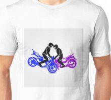 Men performing stunt on motorbike  Unisex T-Shirt