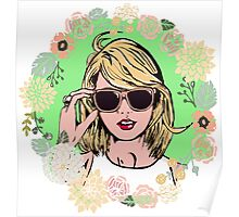 Taylor swift music floral Poster