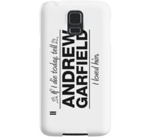 """Andrew Garfield - """"If I Die"""" Series (Black) Samsung Galaxy Case/Skin"""
