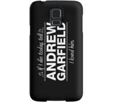 """Andrew Garfield - """"If I Die"""" Series (White) Samsung Galaxy Case/Skin"""