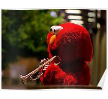 Elmo blows the blues Poster