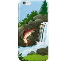 Waterfall Trout Fly Fishing iPhone 4 / iPhone 5 Case / Samsung Galaxy Cases  iPhone Case/Skin