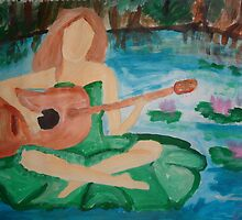 Music on a Lilypad by Alison Pearce
