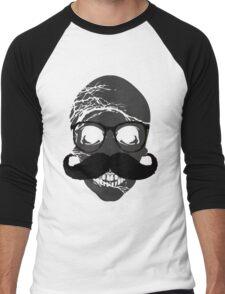 Skull mustache glasses Men's Baseball ¾ T-Shirt