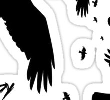 Happy Halloween Murder of Crows Sticker