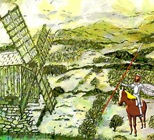 Don Quixote Meets a Giant by Dennis Melling